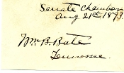 Bate, William autograph