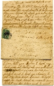 2nd NC Cav. soldier's letter and cover missent with ANV cancel