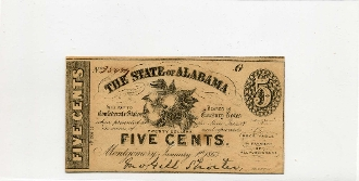 CSA Alabama 5 c Note