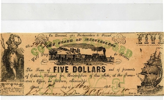 CSA Mississippi $5. Note