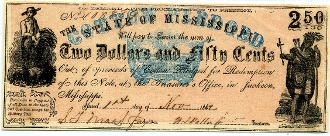 CSA Mississippi $2.50 Note