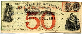 CSA Mississippi $50. Note
