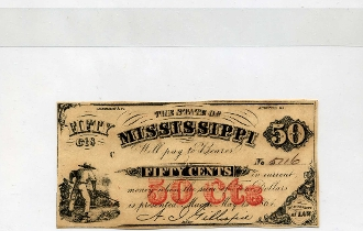 CSA Mississippi 50 c Note