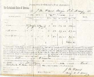Hawes, James M.  war date autographed document