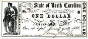 CSA North Carolina $1 Note, 1861, CU