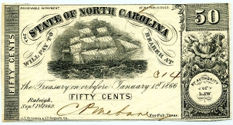 CSA North Carolina 50 c, 1862, UNC