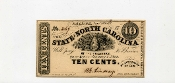CSA North Carolina 10 c Note, CU