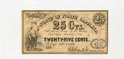CSA North Carolina 25 c Note,  1863, CU