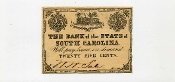 CSA South Carolina 25 c Note, Fort Sumter, XF