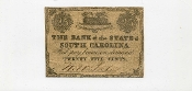 CSA South Carolina 25 c Note, Fort Sumter, F