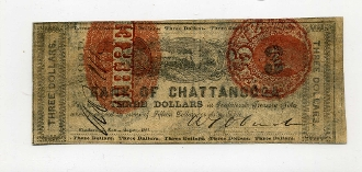 CSA Tennessee $3 1862 Note, F+