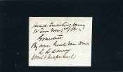 Lomax, Lunsford war date autograph