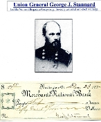 Stannard, George autograph/ WIA Pickett's Charge