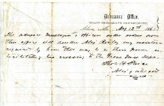 Trans-Mississippi Department, Selma, Alabama 1864 document