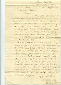 Miles, Dixon autographed document/ 29th PA Infantry