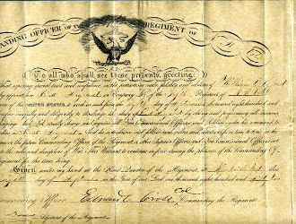 Cross, Edward autographed document/ KIA Gettysburg