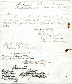 Asboth, A. autographed document/ Fremont Hussars/ 4th MO Cavalry