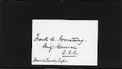 Armstrong, Frank autograph/ Forrest Cavalry Corps