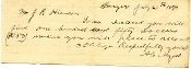 Myers, Abraham  autograph note signed and letter