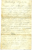 155th Ohio Infantry soldier's letter/ Martinsburg, West Virginia