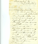 8th Connecticut Infantry soldier's letter/ Fredericksburg, VA