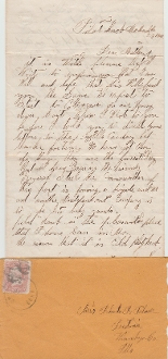 Illinois Independent Cavalry soldier's letter/ Pilot Knob, MO