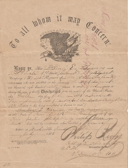 182nd Ohio Infantry Eagle Discharge