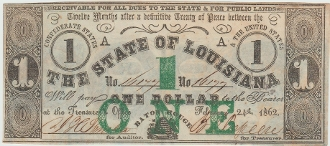 CSA Louisiana $1. Note