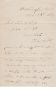 Grant, Ulysses autograph letter signed