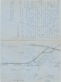 1st Massachusetts Infantry soldier's letter with map