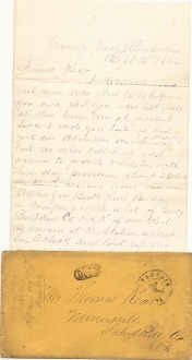 129th Pennsylvania Infantry soldier letter/ Action in No.VA area
