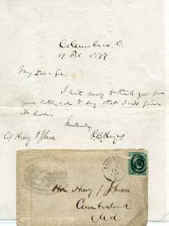 Hayes Rutherford B. autograph letter