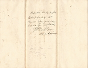 Dahlgren, John war time document signed