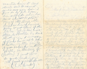 48th Massachusetts Infantry soldier's letter