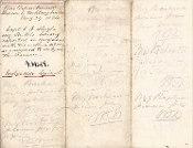 Holt, Joseph war date document signed/ 149th Pennsylvania Vols.