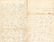 40th New York Infantry soldier's letter/ Petersburg