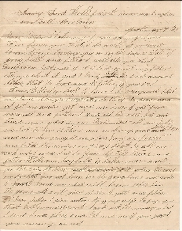 175th Pennsylvania Infantry soldier's letter/ North Carolina