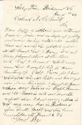 96th Illinois Infantry soldier's letter/ Libby Prison, VA