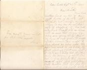 34th Massachusetts Infantry soldier's letter/ 3rd Winchester. VA