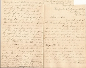 126th New York Infantry soldier's letter