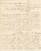 34th New York Infantry soldier's letter/ Winchester,VA