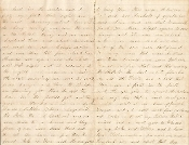 207th Pennsylvania Infantry soldier's letter