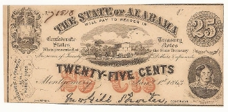 CSA Alabama 25 c Note