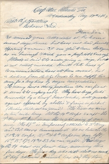 69th Ohio Infantry soldier's letter/ Atlanta, Georgia