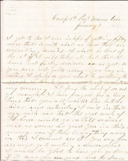 5th Maine Infantry soldier's letter/ BBG Clark Edwards