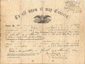 Hatch,John document signed for 5th New York Cavalry soldier/MOH