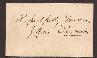 Chesnut, James, Jr. autograph