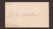 Crittenden, George autograph