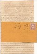 3rd Florida Infantry POW letter & cover/ Camp Chase, Ohio