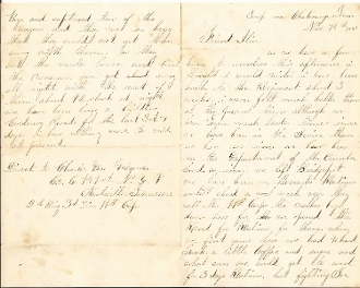 141st New York Infantry soldier's letter/ Lookout Mountain